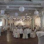Deckendekoration mit Lampions im Dekorationsverleih von kds events