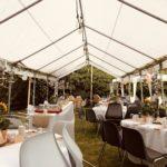 Hochzeit im eigenen Garten mit dem Dekorationsverleih von kds events